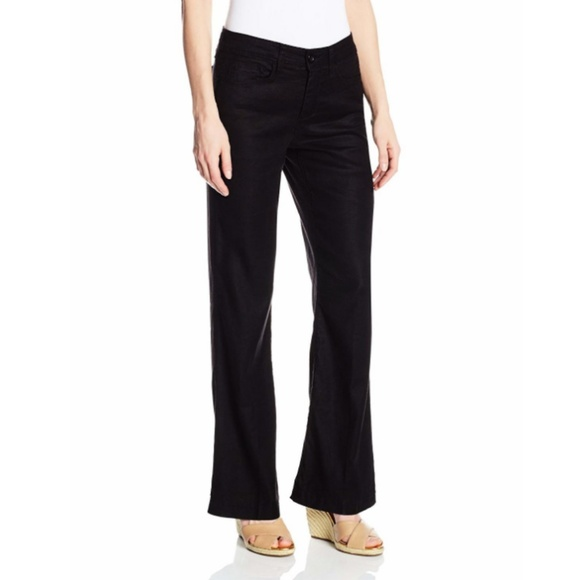 a6d548125f546 NEW NYDJ Wylie Black Linen Blend Trousers 20W